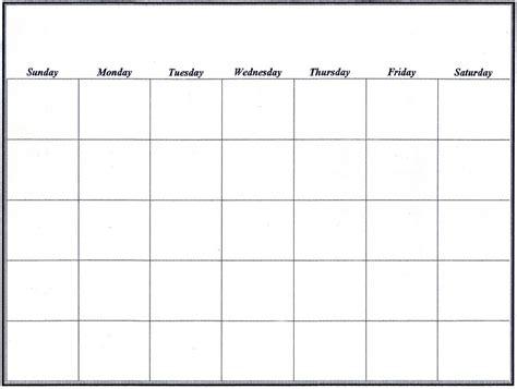 large blank calendar calendar template 2016
