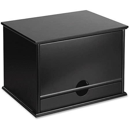 victor midnight black collection wood desktop organizer