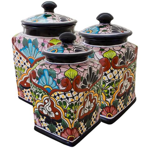 canisters kitchen decor talavera kitchen canisters collection talavera kitchen canister tgj210