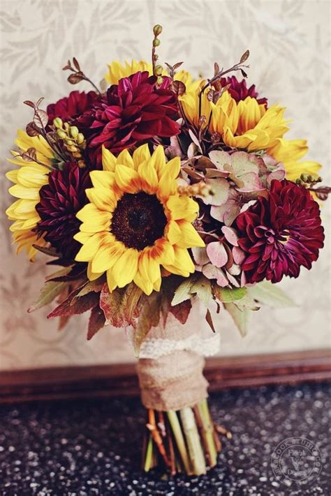 Fall Wedding Bouquets by 27 Ways To Add Burgundy To Your Fall Wedding Weddingomania