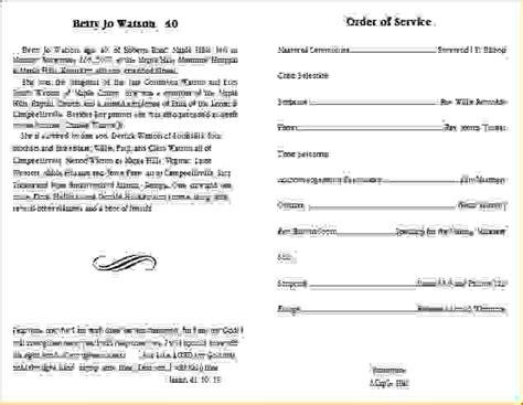 blank program template 11 funeral program templateagenda template sle agenda