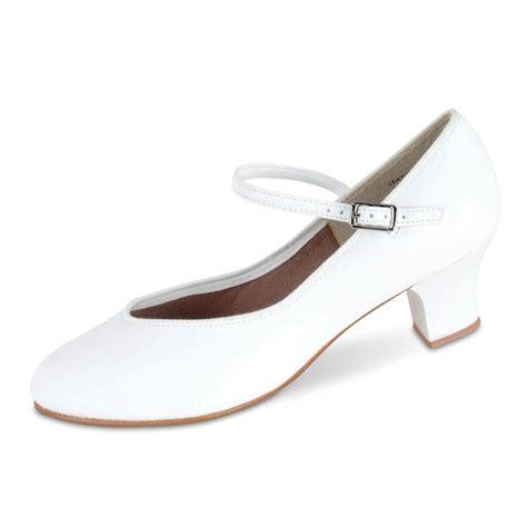 danshuz 1 1 2 heel tap white character shoe dan3327