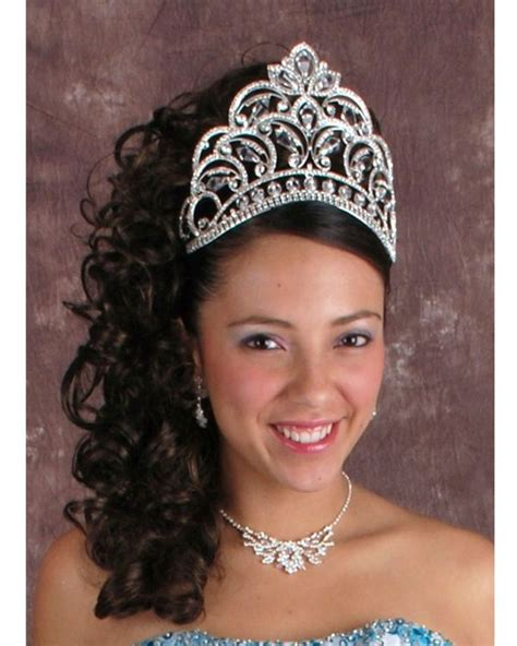Quinceanera Hairstyles With Tiara by Beautifully Designed Quinceanera Tiara Quinceanera