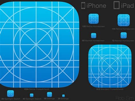 icon design guidelines ios ios7 icon template psd freebiesbug