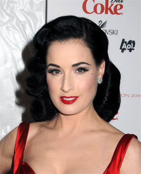 1950 hair styles with bangs reminiscent of 1940 s hairstyles dita likes to wear her