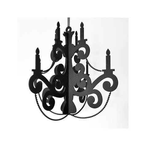 Black Cardboard Chandelier Beaded Chandelier Black Decor