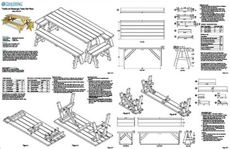 free picnic table plans with separate benches plans for picnic tables with separate benches discover woodworking projects