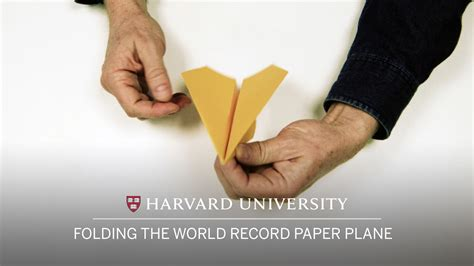 World Record Paper Folding - folding the world record paper plane pinspider