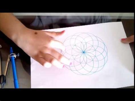 figuras geometricas hechas con compas como hacer una flor con comp 225 s youtube