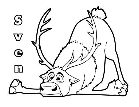 desenho de sven caindo no ch 227 o para colorir tudodesenhos