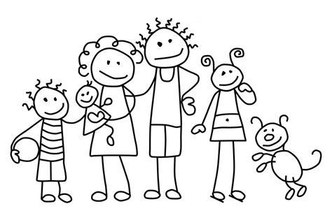 printable coloring page of family coloring pages of families printable family sheets for