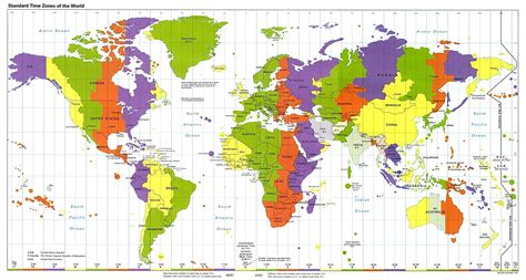 standard map standard world times zones map mappery