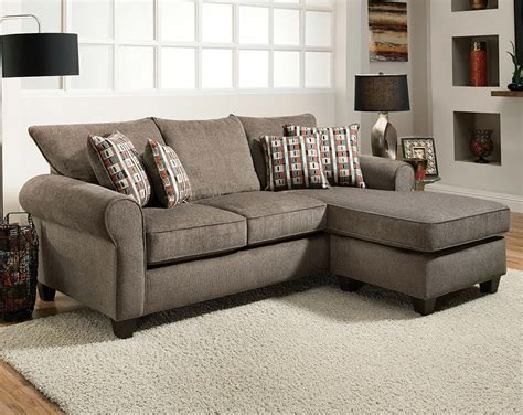 poundex f7926 beige fabric sectional sofa and ottoman