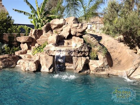 rock waterfalls for pools rock waterfalls slides glendora ontario pools