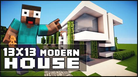 Minecraft House Tutorial 13x13 Modern House