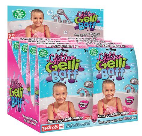 Zimplikids Gelli Baff mermaid slime bath challenge slime baff