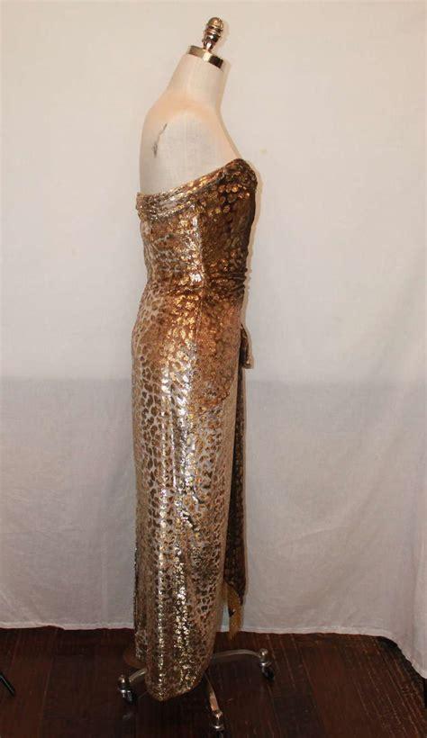 Satin Carolyn Black carolyn roehm gold silk pane cut velvet gown 4 at 1stdibs