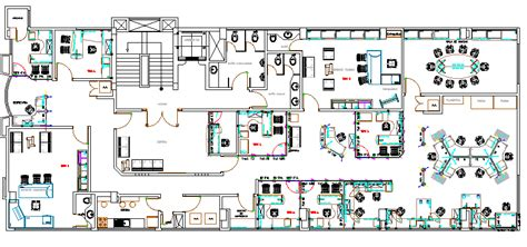 corporate office architecture layout plan details dwg file