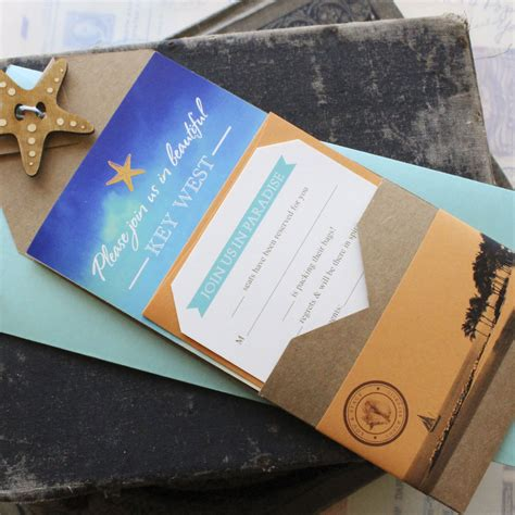Travel Brochure Wedding Invitation by Vintage Passport Wedding Invitation Jamaica Destination