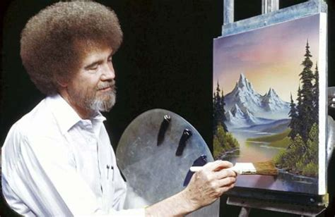 bob ross guest painter pbs mashup honors of painting host times union