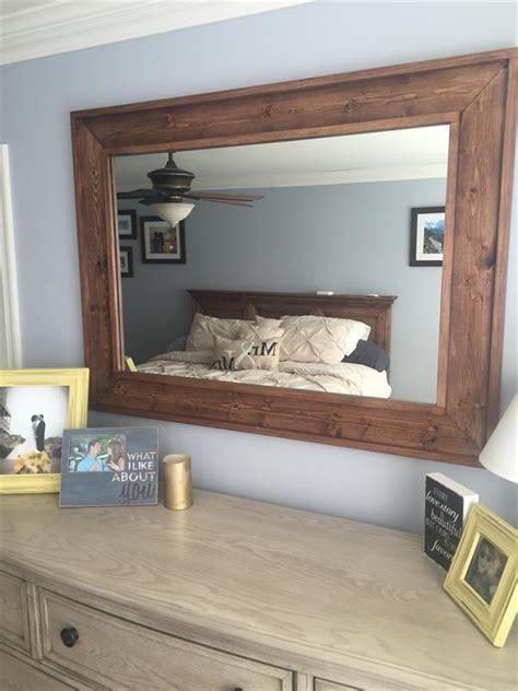 wooden framed bathroom mirrors wooden framed mirror buildsomething