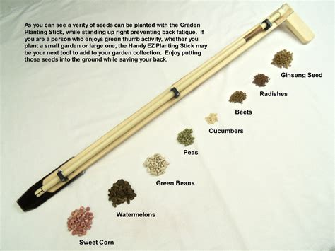 Seed Stick Planter by Garden And Ginseng Planting Stick Gardening Tool Wooden Steel