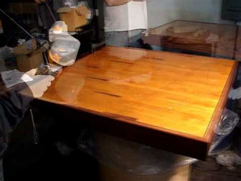 how to make a bar top with resin how to apply epoxy resin on table tops counter tops bar tops application demonstration