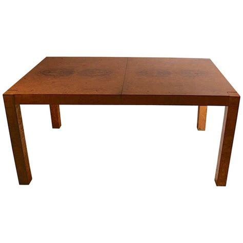 Parsons Style Dining Table Baughman For Burl Parsons Style Dining Table At 1stdibs
