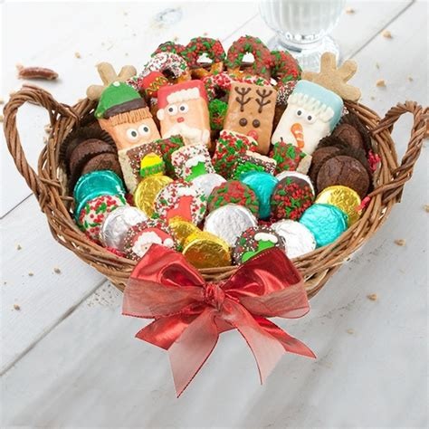 deluxe christmas cookie basket aagiftsandbaskets com
