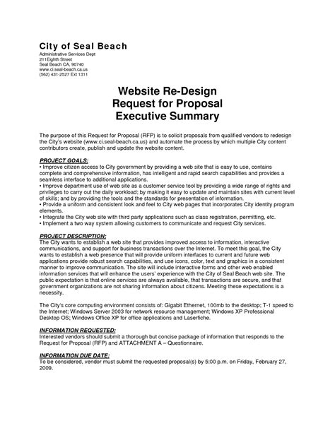 best photos of proposal executive summary template