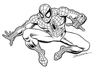 Courtesy Of Mike Burkey Spider Man &1691999 Marvel Characters Inc sketch template
