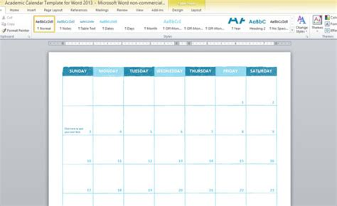 academic calendar template for word 2013 free ppt templates