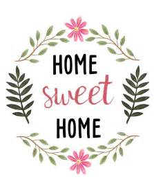 sweetdailiness free home sweet home printable