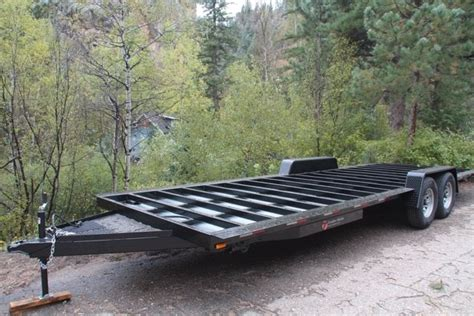 flatbed trailer for tiny house trailer made custom trailers tiny house trailers usa