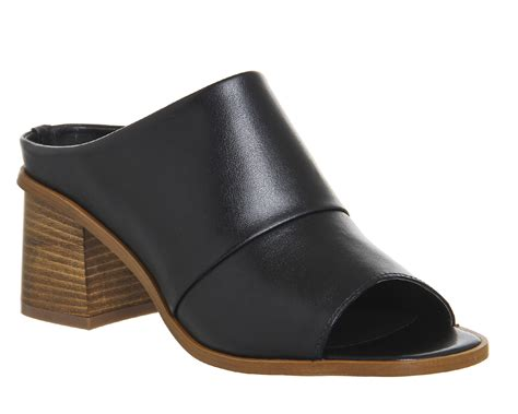 Block Heel Mules office fudge block heel mules in black lyst