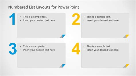 powerpoint templates list numbered list layout template for powerpoint slidemodel