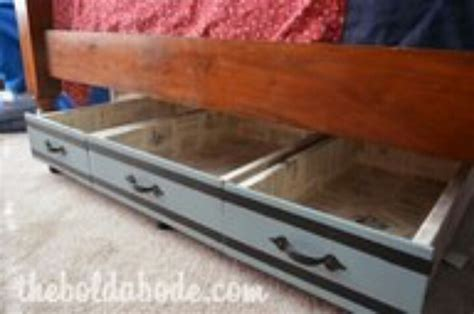 diy under bed drawers drawer under bed storage diy home projects pinterest