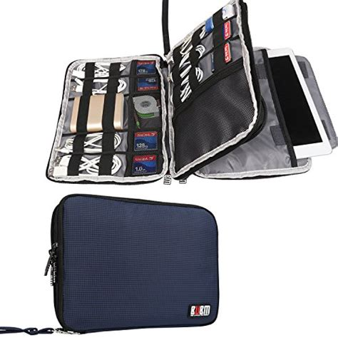 amazon travel accessories bubm double layer travel gear organizer electronics