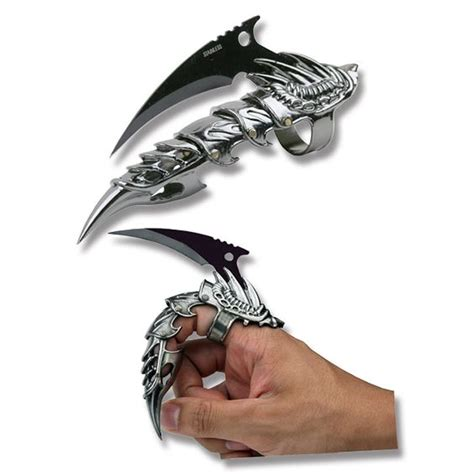 ring knife ring knife finger claw with black finish blade i also want two of these knife cave