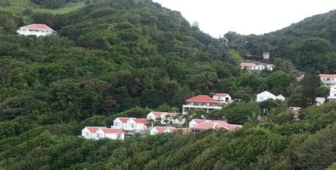 hillside location of cottages and building the