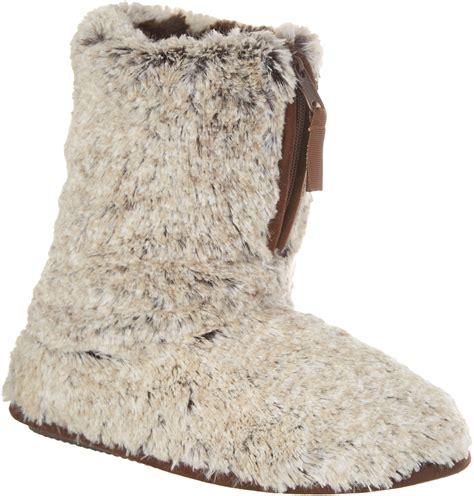 zip slippers dearfoams womens pile zip boot slippers ebay
