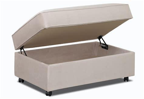 storage ottoman with casters storage ottoman with lift top and casters by klaussner
