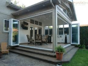 Monarch glass walls traditional patio