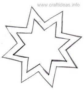 Gingerbread Decoration Ideas Free Craft Pattern For 8 Sided Star