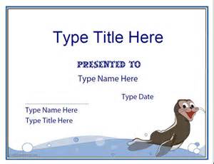 swimming award certificate template blank certificate swimming certificate template