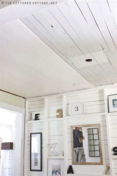 Lowes Ceiling Planks by Plank Ceiling Cottage Decorating Furniture