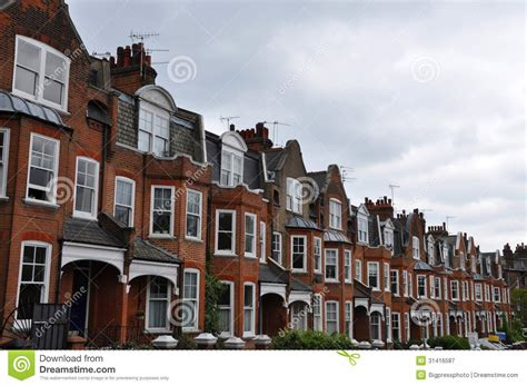 Victorian Home Plans by Edwardian Houses London Uk Royalty Free Stock Photography