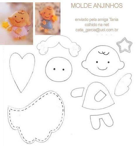 pattern felt angel diy felt angels free pattern template craft ideas