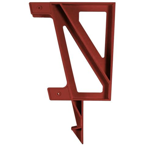 bench bracket shop 2x4basics redwood polyresin bench brackets at lowes com