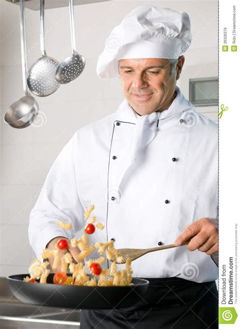 Kitchen Design Plans by Chef Cooking Pasta Royalty Free Stock Images Image 26326279